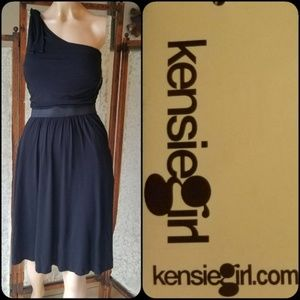 Black One Shoulder Dress by Kensiegirl